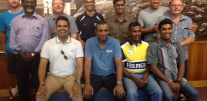 ICC Umpire Ravi with some Auckland Umpires at an Education Evening.